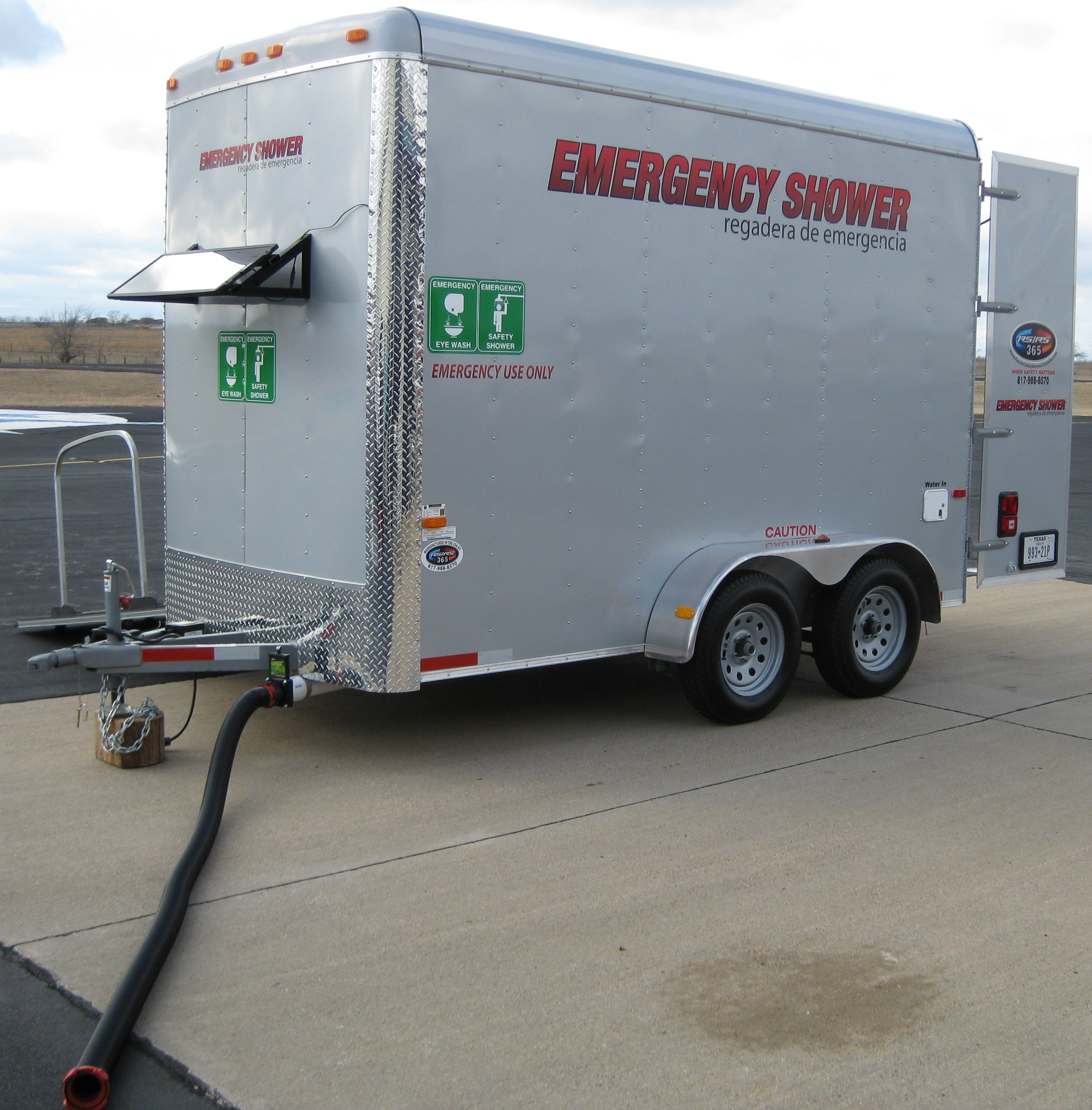 Trailer Safety : Rs emergency safety shower trailer